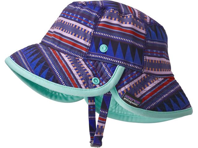 Patagonia Little Sol Hat Kids Belay Stripe: Imperial Blue